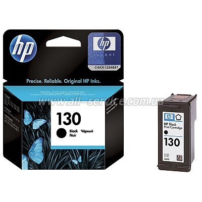 Картридж HP №130 Black DJ 5743/ 6543/ 6843, PS8153/ 8453 C8767HE