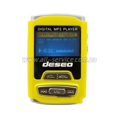 MP3 ����� TakeMS Deseo 2Gb yellow (TMS4GMP3-DESEO-Y)