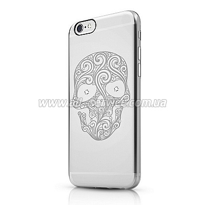 Чехол ITSKINS Bling for iPhone 6 Transparent (APH6-BLING-BLG4)