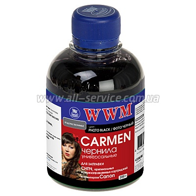 Чернила WWM (200 г) CANON UNIVERSAL CARMEN (Photo Black) CU/PB