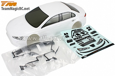 Team Magic E4D EVX Pre-painted Body Shell White