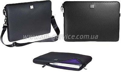Сумка для ноутбука ACME MADE Smart Laptop Sleeve MB Pro 15 Matte Black Chevron