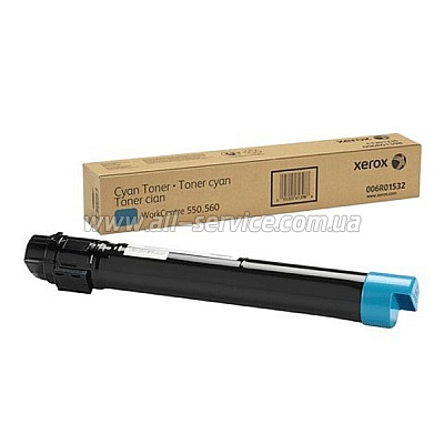 Тонер картридж Xerox Color 550/ 560 Cyan (006R01532)
