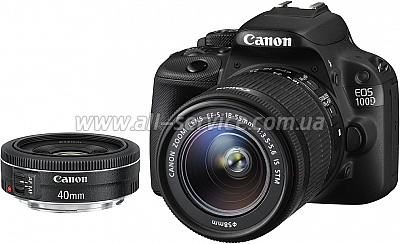 ���������� ����������� Canon EOS 100D + �������� 18-55 IS + �������� 40mm STM (8576B057)