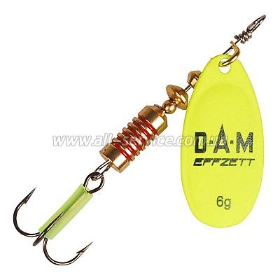 Блесна-вертушка DAM Effzett Fluo 4гр yellow (5123101)
