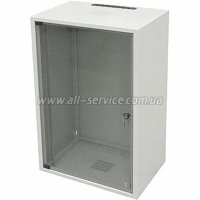19 шкаф 18U, глубина 600 мм., серый цвет (WZ-3715-01-05-011)