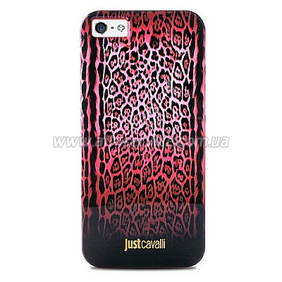 Чехол PURO JUST CAVALLI Leopard Double Stripes for iPhone 5/5S/SE Red (JCIPC5LEOPARD2RED)