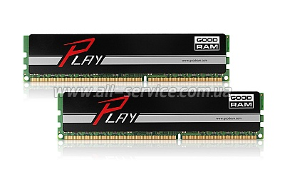 ������ 8GB GOODRAM DDR3 1600MHz PLAY Black 2x4GB (GY1600D364L9S/8GDC)