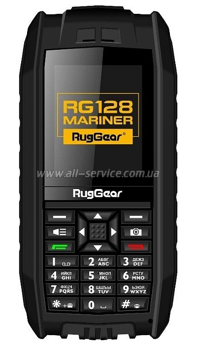 Телефон RUGGEAR RG128 Mariner Black (RG128BL)