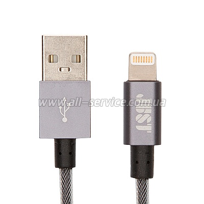 Кабель JUST Selection Lightning USB MFI Cable Grey (LGTNG-SLCN-GR)