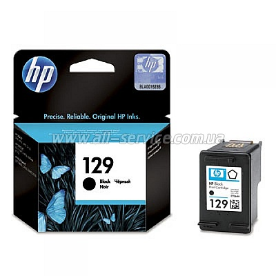 Картридж HP №129 DJ5943/ PS2573/ 8053/ 8753/ OJ 6213 black, 11ml (C9364HE)