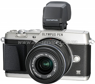 Цифровой фотоаппарат OLYMPUS E-P5 14-42 mm Kit + VF4 silver/silver (V204051SE020)