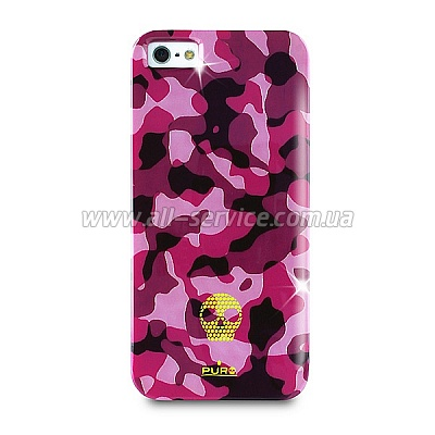 ����� PURO Army Fluo for iPhone 5/5S Pink (IPC5ARMYFLUO2)