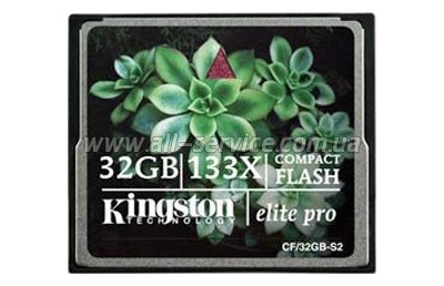 ����� ������ 32GB Kingston CF 133x (CF/32GB-S2)