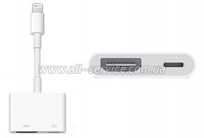 Адаптер Apple Lightning to Digital AV (for iPad/ iPod/ iPhone) (MD826ZM/A)