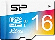 Карта памяти 16GB SILICON POWER microSDHC Cl 10 UHS-I Elite COLOR + адаптер (SP016GBSTHBU1V20SP)