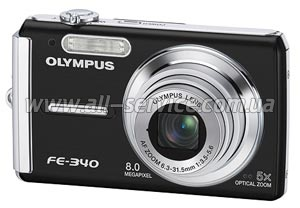 �������� ����������� Olympus FE-340 Black + xD-Card 1 Gb
