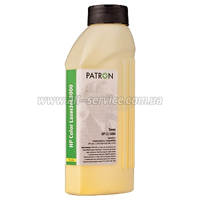 ТОНЕР HP CLJ 3000 YELLOW ФЛАКОН 180 г PATRON