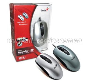 Мышь Genius Traveler 100 PS2/ USB Silver 31010969102