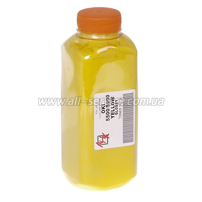 Тонер OKI C5500/ 5550/ 5800/ 5900 Yellow (140 г) (АНК, 1502020) Absolute Yellow ® GLOSSY