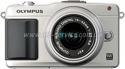 Цифровой фотоаппарат OLYMPUS E-PM2 14-42 mm kit Flash Air silver/silver (V206021SE010)