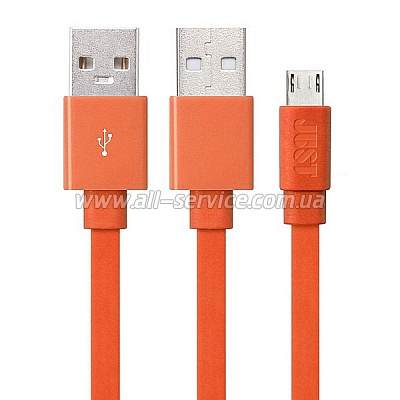 ������ JUST Freedom Micro USB Cable Orange (MCR-FRDM-RNG)