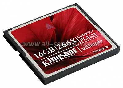 Карта памяти 16GB Kingston CF 266x (CF/16GB-U2)