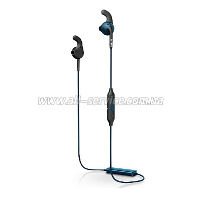 Наушники Philips ActionFit SHQ6500CL/00 Blue Wireless