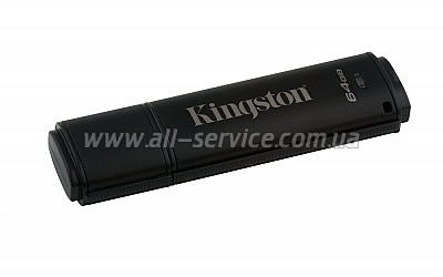 Флешка 64GB Kingston DT 4000 G2 Metal Black Security (DT4000G2/64GB)