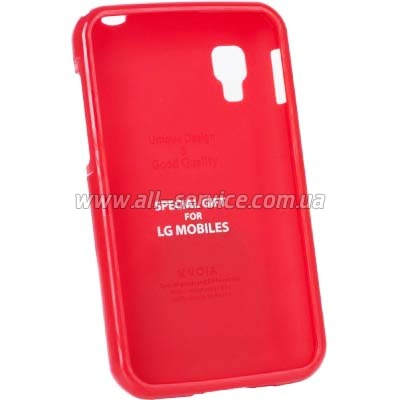 Чехол VOIA LG Optimus L4II Dual - Jelly Case (Red)