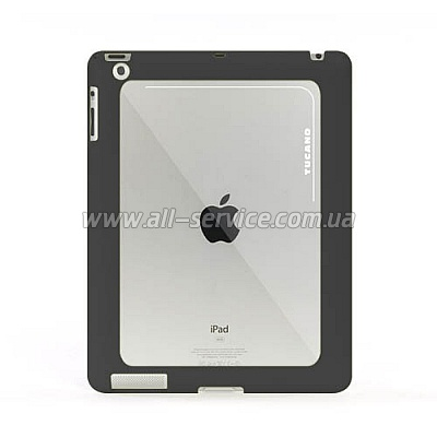 Чехол для iPad 3Gen Tucano Bordo Rubber+Polycarbonate (Black) IPDBO23