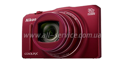 �������� ����������� NIKON Coolpix S9700 Red kit + 8Gb