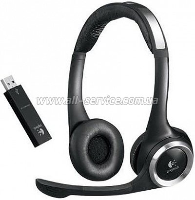 Гарнитура Logitech ClearChat Wireless Stereo USB (981-000069)