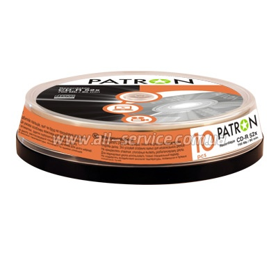 ���� CD-R PATRON 700 MB 52x 10x1 CAKE BOX (INS-C006)