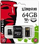 Карта памяти 64GB Kingston Class 10 microSDXC+SD adapter (MBLY10G2/64GB)