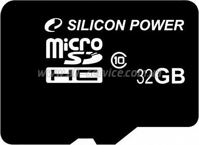 Карта памяти 32GB SILICON POWER microSDHC Class 10 (SP032GBSTH010V10)
