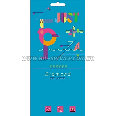 �������� ������ JUST Diamond Glass Protector 0.3mm for iPhone 4/4S (JST-DMDGP-IP4)