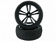 1:10 Black Buggy Front Tires and Rims(31211B+31307) 2P