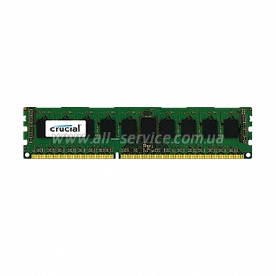 Память Micron Crucial DDR3 1600 ECC 8GB Unbuffered 1.35V (CT102472BD160B)