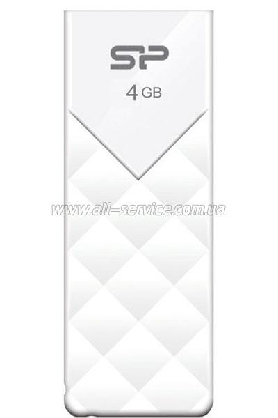 Флешка 4Gb SILICON POWER Ultima U03 White (SP004GBUF2U03V1W)