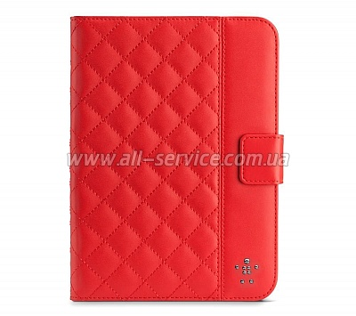 Чехол iPad mini Belkin Quilted Cover Stand красный (F7N040vfC02)