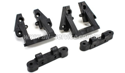 Team Magic E6 Front/Rear Upper Arm Hinge Pin Mount 4p