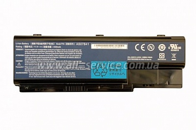 ����������� Acer Aspire 5520 6920 8920 / 14.8V 4800mAh (71Wh) BLACK ORIG (Model: AS07B42)