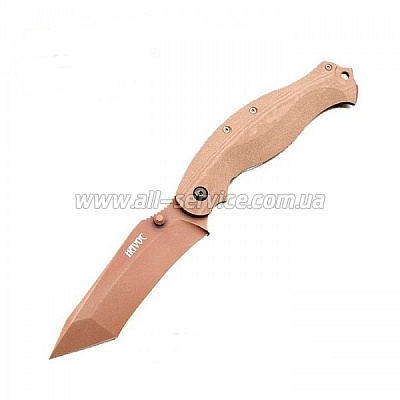Нож Fox Havok Clip Point tan DLC FKU-HV02TIB