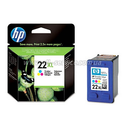Картридж HP №22XL DJ3920/ 3940, PSC1410 large color (C9352CE)