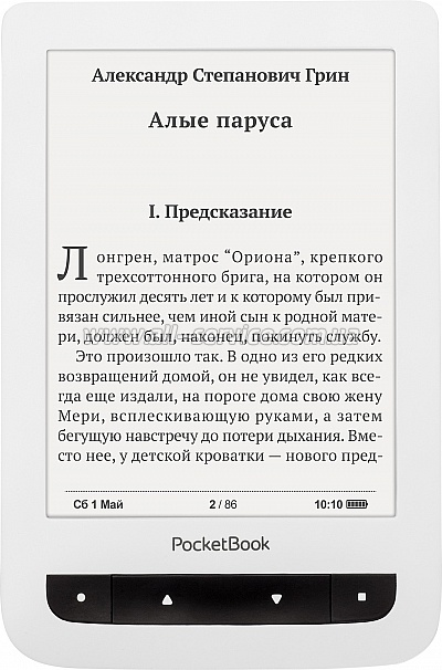 Электронная книга PocketBook Basiс Touch 624, белый (PB624-D-WW)