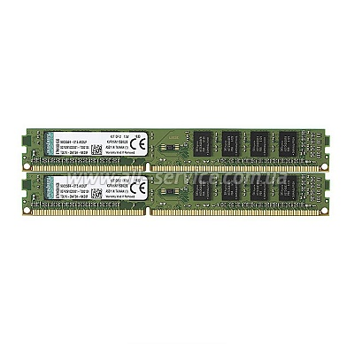 Память 4GBx2 Kingston DDR3 1600Mhz KIT, 1.5V, Retail (KVR16N11S8K2/8)