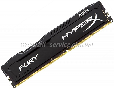 Память 2x4Gb KINGSTON HyperX OC KIT DDR3 2666Mhz CL15 Fury Black (HX426C15FBK2/8)