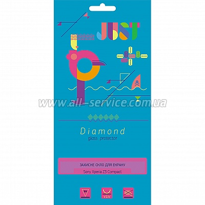 Защитное стекло JUST Diamond Glass Protector 0.3mm for SONY Xperia Z3 compact (JST-DMD03-SXPZ3C)