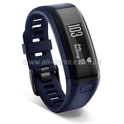 Фитнес браслет GARMIN vvosmart HR. E EU. Blue. Regular (010-01955-14)